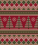 Weihnachtsstrickjacken-Design Nahtloses strickendes Muster Winter Holi Stockfoto