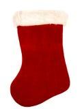 Weihnachtsstrumpf auf Weiß Stockfotografie