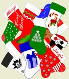 Weihnachtsstrumpf-Durcheinander Stockbilder