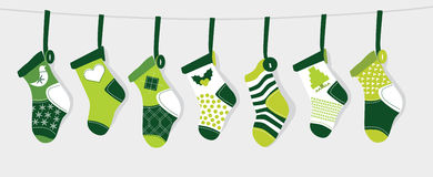 Weihnachtsstrumpf - Grün Stockfoto