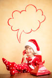 Weihnachtssupport center Stockbild