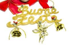 Weihnachtssymbol, buone feste stockfoto