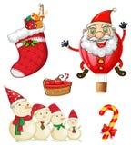 Weihnachtssymbole stock abbildung
