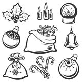 Weihnachtssymbole vektor abbildung