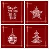 Weihnachtssymbole gemacht von den kleinen Geschenkboxen Lizenzfreie Stockbilder