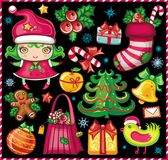 Weihnachtssymbolset! Lizenzfreie Stockfotografie