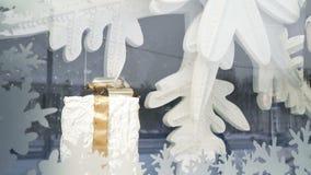 Weihnachtssystem Windows Hintergrund des neuen Jahres und des Weihnachten stock footage