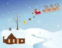 Weihnachtsszene Lizenzfreies Stockfoto