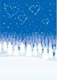 Weihnachtsszene stockfotos
