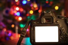 Weihnachtsszene einer Digitalkamera Stockfoto