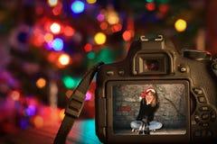 Weihnachtsszene einer Digitalkamera Lizenzfreie Stockfotos