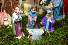 Weihnachtsszene - Nacimiento Lizenzfreies Stockbild