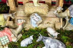 Weihnachtsszene - Nacimiento Lizenzfreie Stockfotos