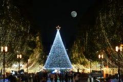 Weihnachtsszene in Tama, Tokyo Stockfotos