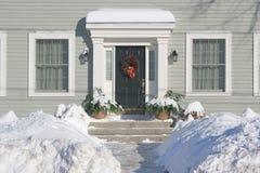 Weihnachtstür lizenzfreie stockbilder