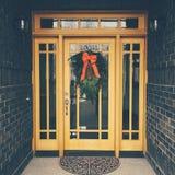 Weihnachtstür Stockfoto