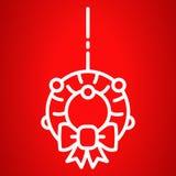 Weihnachtstür-Kranzikone, Entwurfsart stock abbildung