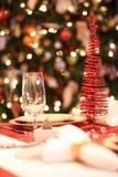 Weihnachtstabelle Stockbilder