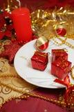 Weihnachtstabelle Stockbild