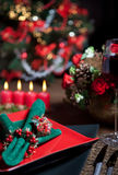 Weihnachtstabelle 8 stockfoto