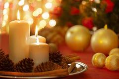 Weihnachtstabellen-Dekoration Lizenzfreies Stockfoto