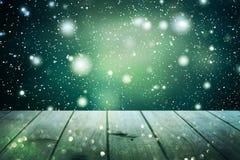 Weihnachtstabellenhintergrund Neues Jahr Lizenzfreie Stockfotos