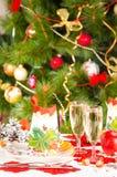 Weihnachtstabellenplan Stockfoto