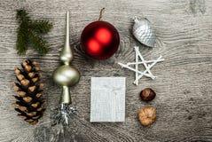 Weihnachtstannenbaum mit Kegeln Lizenzfreie Stockfotografie