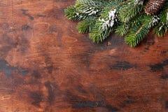 Weihnachtstannenbaumast umfasst durch Schnee lizenzfreies stockbild