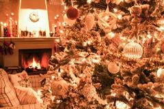 Weihnachtstannenkamin Lizenzfreies Stockbild