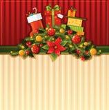 Weihnachtstapete Stockfotografie
