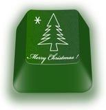 Weihnachtstastaturtaste Lizenzfreie Stockbilder