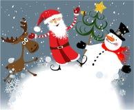 Weihnachtsteam stock abbildung