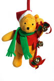 WeihnachtsTeddybär. lizenzfreie stockfotos