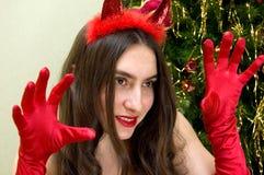 Weihnachtsteufel Lizenzfreies Stockbild
