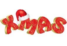 Weihnachtstext Stockfoto