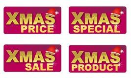 Weihnachtstextikonen Lizenzfreie Stockfotos