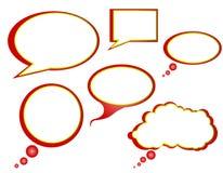 Weihnachtsthema-Gesprächs-Luftblasen Lizenzfreies Stockfoto