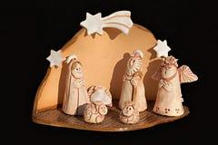 Weihnachtsthema mit Stern von Bethlehem Stockfoto