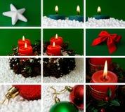 Weihnachtsthemaaufbau Stockfotografie