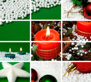 Weihnachtsthemaaufbau Stockfoto