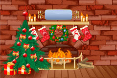 Weihnachtsthemahintergrund Lizenzfreie Stockfotos