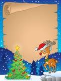 Weihnachtsthemapergament 8 Stockbild