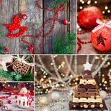 Weihnachtsthematische Collage lizenzfreies stockbild