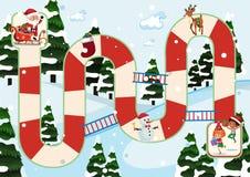 Weihnachtsthemenorientiertes Brettspiel stock abbildung