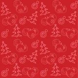 Weihnachtsthemenorientiertes nahtloses Muster Lizenzfreie Stockfotografie
