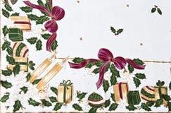 Weihnachtstischdecke Lizenzfreie Stockbilder