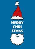 Weihnachtstypografischer Hintergrund Frohe Weihnachten sankt stock abbildung