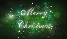 Weihnachtstypographie, Handschrift Lizenzfreie Stockbilder