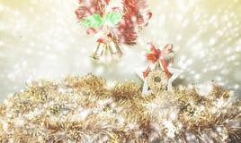 Weihnachtsunschärfehintergrund stockbild